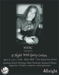 A Night with Gary Corbett, a Grammy award winning musician, songwriter, and producer